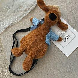 $enCountryForm.capitalKeyWord Australia - New Ladies Casual Plush Cute Dog Shape Shoulder Bag Handbag Women Fashion Small Zipper Crossbody Bag