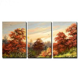 5d diamond UK - Full Diamond Embroidery autumn scenery tree 5D Diy Diamond Painting Cross Stitch Sets Square drill Mosaic Rhinestones Pictures