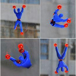 $enCountryForm.capitalKeyWord Australia - Climbing People Sticky Toys Superman Spiderman Climbing Wall Sticky Toy Children Amazing Spider man funny toys