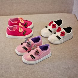 Flats Shoes Baby Girls NZ - Spring And Summer Girls Shoes Girls Bow Cartoon Flat Shoes Women Baby Fashion Casual Walking Shoes