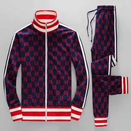 Clothing Zipper UK - 19ss year sportswear jacket suit fashion running sportswear Medusa men's sports suit letter printing slim hoodie clothing track suit sportsw