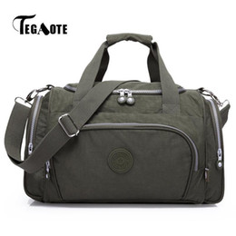 $enCountryForm.capitalKeyWord Australia - Tegaote Simple Men Luggage Handbags Top-handle Waterproof Women Casual Tote Light Zip Weekend Bag Men Travel Bags Female Bolsa