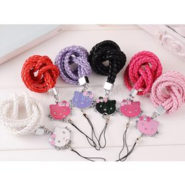 $enCountryForm.capitalKeyWord Australia - Cute Flower Keys Rope exquisite Necklace Mobile Phone Straps For ID Work Card Cell Phone Chain Straps Keychain phone Hang Rope by DHL
