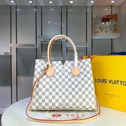 $enCountryForm.capitalKeyWord Australia - Fashion Multifunctional Women Handbag High Capacity Girl Shopping Bags Vintage Plaid Leather Shoulder Bag for Lady