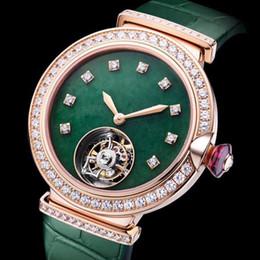 Женские модные часы в стальном корпусе с зеленым ремешком с автоматическим механическим механизмом и сапфировым зеркалом 33 мм женские бриллиантовый циферблат с коробкой для часов A9-1 на Распродаже