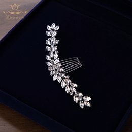 Evening Hair Combs Australia - Cheap Jewelry Sparkling Handmade Silver Wedding Accessories Brides Pearls Combs Crystal Hair Sticks Evening Hair Jewelry