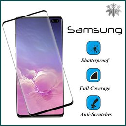 $enCountryForm.capitalKeyWord Australia - Full Cover Curved Edge Glue Tempered Glass Screen Portector For Samsung Galaxy S10 E Plus Note Anti-Scratch Fingerprint Guard Film 100PCS