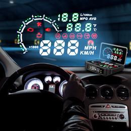 Car Heads Up Display Australia - NEW 2 in 1 TPMS Sensor Temperature Tire Pressure Monitor System Digital HUD Head Up Display Car Excess Speed Alarm