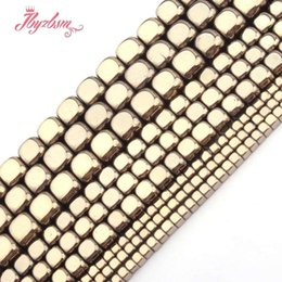 "makes cube NZ - 2,3,4,6mm Cube Light Gold Hematite Beads Natural Stone Beads For Necklace Bracelets Earring Jewelry Making 15"" Free Shipping"