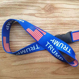 united phones Australia - TRUMP Chest Card Strap Removable Flag Of The United States Key Chains String Badge Pendant Party Gift Mobile Phone lanyard Free DHL