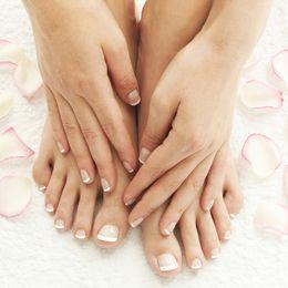 $enCountryForm.capitalKeyWord Australia - tips Classical Fake Toe Tips french artificial kit 24 Pcs   48 Pcs Nails overheadoval for Toe Finger