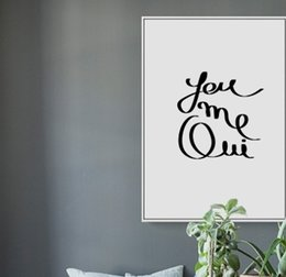 Boy Paintings Australia - Black White Nordic Minimalist Typography You Me Love Quotes Art Print Poster Nursery Wall Picture Canvas Painting Boy Kids Room Decoration