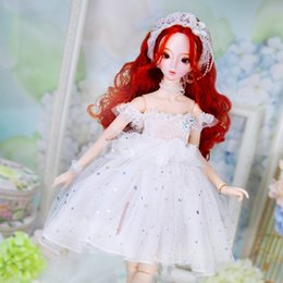 Red Hair Dressed Ooak Bjd Lady For 1:12 Doll House