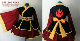 male kimono cosplay NZ - Azula Fire Nation Cosplay costume Kimono Dress