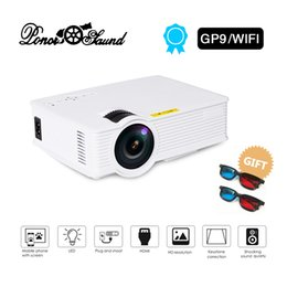 Proyector Wifi Australia - Poner Saund GP9-WiFi Mini Projector Wired Sync Display Theater Android Support Full HD LED projector Beamer Video Proyector
