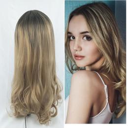 Perücke billig schwarz bis blond lange Welle Simulation für schwarze Frauen Haare im Angebot