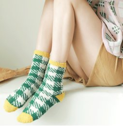 mechanics gifts Australia - Christmas Gift 2019 2020 Fashion Plush Slipper Socks Girls Women Plaid Warm Sock Thick Cozy Soft Stockings for Winter Indoor Outdoor M742F
