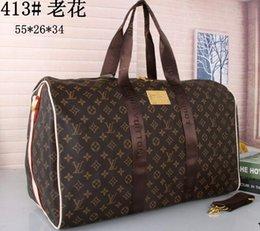 Mens Large Leather Travel Bags Australia - Top quality mens travel luggage bag men totes keepall leather handbag duffle bag Sac 2019 brand fashion bags