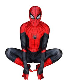 $enCountryForm.capitalKeyWord Australia - Halloween costume Far From Home Spiderman Costume Lycra Spandex High Quality Spiderman Cosplay Suit For Adult Kids