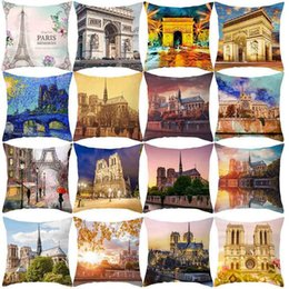 london home decor UK - Home Fashion Retro Pillow Cover London Paris City Street Scenery Pillow Case Room Soft Comfortable Bed Pillowcase Home Decor