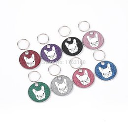 wholesale cat dog collar pendants Australia - 200 pcs lot Personality Custom Alloy Dog Cat Pendant Charm Pet Collar Necklace Cell Phone Charms 6 Colors With Split Ring