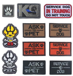 $enCountryForm.capitalKeyWord Australia - Embroidery Patch K9 ASK TO PET SERVICE DOG Tactical 3D Army Morale Patch Emblem Military Embroidered Patches Badge For Clothing