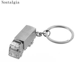 Personalized key rings for men online shopping - Car keychain personalized solid Truck Keychain Vintage Lorry Car Key Ring For Women Men Key Jewelry Accessories Shellhard Gift