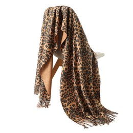 fd950ce2f45a0 2018 designer brand women scarf fashion Leopard Print cashmere scarves lady winter  shawls and wraps pashmina bandana blanket C18112001