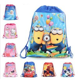 Girls Toy Package Australia - 36*27cm Cartoon Storage Bags Birthday Party Favor For Girls Gift Bag Drawstring Backpack Kids Toys Receive Package Swimming Beach Bags