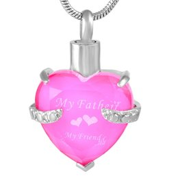 $enCountryForm.capitalKeyWord UK - Stainless Steel Glass Heart Souvenir Cremation Memorial Keepsake Necklace Pendant for Ashes Urn Jewelry for Gift Family IJD9790