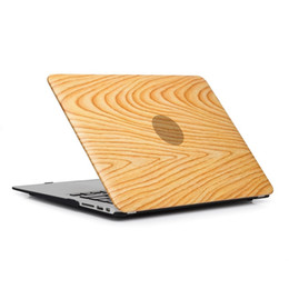 $enCountryForm.capitalKeyWord Canada - PU Leather Skin + Plastic Case Cover Protective Shell for Macbook Air Pro Retina 11 12 13 15 inch Protector Cases wood grain