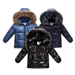 down parkas for kids NZ - Fashion winter down jacket for boys 2-8 years children's clothing thicken outerwear & coats with nature fur hooded parka kids CJ191205