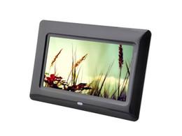 Dijital Fotoğraf Çerçeveleri 7 inç HD LCD Ekran Masaüstü Takvim Dijital Resim Görüntüleme Çerçevesi ile Takvim Desteği Tf Sd Flash Sürücüler