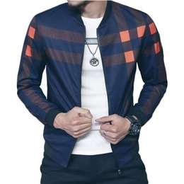 $enCountryForm.capitalKeyWord Australia - 2019Fashion Brand Mens Bomber slim Fit grid Jacket Thin Men Baseball Jackets Casual Jacket Coat Overcoat For Male Clothing S-5XL