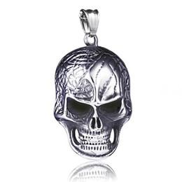 $enCountryForm.capitalKeyWord UK - Hip Hop Men Titanium Steel Skull Witch Pentagram Necklace Punk Rock Mask Scissors Cross Pendant Necklaces Mens Gothic Collar Jewelry New