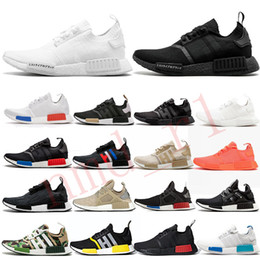 PurPle band online shopping - 2019 NMD R1 Primeknit Triple black White Human Nmds designer Running shoes For Mens Womens OREO NMDS XR1 V2 V3 Sports sneakers