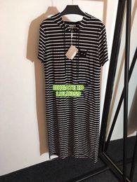 $enCountryForm.capitalKeyWord NZ - Women Striped Hooded Shirt Dress With Cat Beading Girls Brand Short Sleeve T-Shirt Dress Tee Mid-Length Casual Female Tee Dress