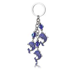$enCountryForm.capitalKeyWord Australia - Alloy dolphin Turkish blue eyes evil eyes key chain car hang accessories