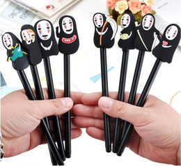 Stationery Australia - Japanese Spirited Away Stationery Hayao Miyazaki Animation Gel Pen Ink Pen Novelty Cartoon Faceless Men Black Ink school supplies