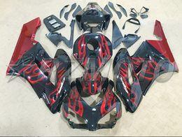 $enCountryForm.capitalKeyWord NZ - New Injection Mold Motorcycle ABS Full Fairings kit Fit for HONDA CBR1000RR 2004 2005 04 05 1000RR CBR1000 Fairings set custom red flame