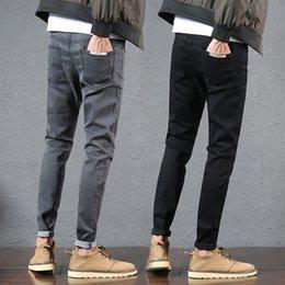 1c1b7238bf7 Pantalones de ocio de zapatos de hombre Chao Brand Autumn and Winter de  Nine-new Black Jeans para hombre