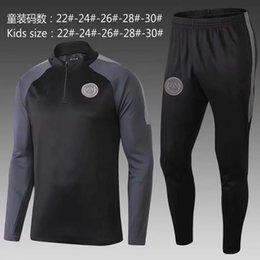 Footed Winter Suit Australia - 2020 hot sell PSG tracksuit new Paris 2018 2019 KIDS redTraining suit MBAPPE maillot de foot Paris black child Sportswear jacket kit