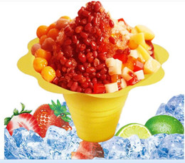Disposable Ice Cream Bowls Australia - 1000pcs lot disposable plastic ice cream Parfait sundae cup Flower shape cups Bowls 250ML Event Party Wedding