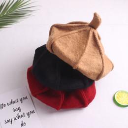 29c53c9042f New autumn and winter Korean version of children s wool berets boys and  girls baby British painter warm fashion pumpkin hat