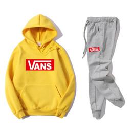 Male Fashion Suits Australia - Hot sale set sweatsuit Mens Letter Prints Tracksuits male Hooded hoodies womens Sweatshirt +pants Fashion Tennis sport Suits Men's Clothing