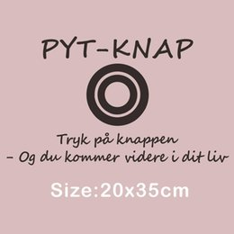 $enCountryForm.capitalKeyWord Australia - Creative Denmark Quotes Wall Sticker PYT KNAP Press the Button Vinyl Mural Decal for Room Decoration