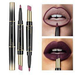 $enCountryForm.capitalKeyWord Australia - Wateproof Double End Matte Lipstick Long Lasting Lipsticks Luster Gloss Cosmetic Makeup Lip Liner 16colors LLA324