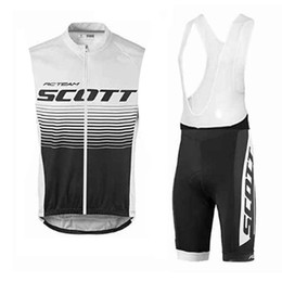 NEW SCOTT Team 2020 Cycling Sleeveless Jersey Sets MTB Bike Clothing Breathable Bicycle Wear Ropa Ciclismo Bicicleta Maillot Suit K121107 on Sale