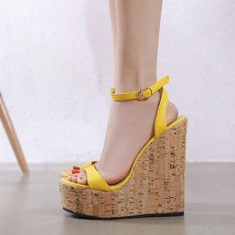 EuropEan womEn sandals wEdgE online shopping - European spring new wedge heel women sandals peep toe sandals shoes