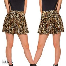 e20a22f98c 2019 Mujeres Sexy falda de poliéster Nuevo Leopardo Impreso de cintura alta  Plaid Skater plisado corto   Mini vestido de falda más el tamaño